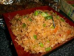 Typical Fried Rice Dish In Singapore